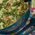 Salade de pique-nique : salade poulet-abricot sec-curry