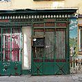 <b>Devanture</b> ancienne et peinture murale Lyon Rhône boucherie