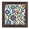 An <b>Iznik</b> Pottery Tile, Turkey, 17th Century