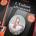 L'enfant allemand, audiolib (16 h 25) lu par eric herson-macarel