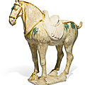 A sancai-glazed pottery horse, Tang dynasty (618-907)