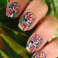Stamping hibiscus colorés