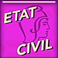 ÉTAT-CIVIL