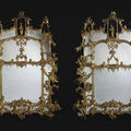 An Exceptional Pair of Finely Carved Chippendale Director Style <b>Chinoiserie</b> Pier Glasses. English, Circa 1860.