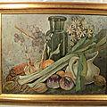 Tableau <b>Nature</b> <b>Morte</b> aux Légumes XXème Signée.