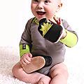 Chaussons bio en cuir à semelle souple pour bébé