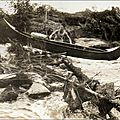 Passage barrage canoë