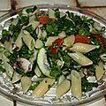 Salade printanière au chou kale