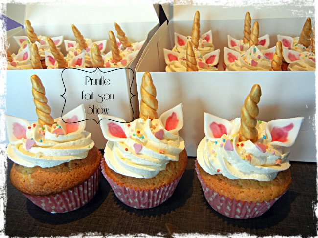 cupcakes licorne prunille fait son show 1