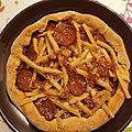 Pizza chorizo-frites
