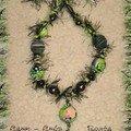 Collier poilu noir-vert 5 recto