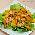 Crevettes au piment et aux mangues