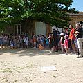 Fête de l'école et inauguration de la fresque