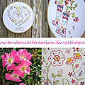 Collection Jardin ... Broderie traditionnelle