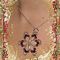 Etoile rouge noir collier blog