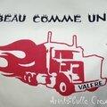 T-shirt camion - détail