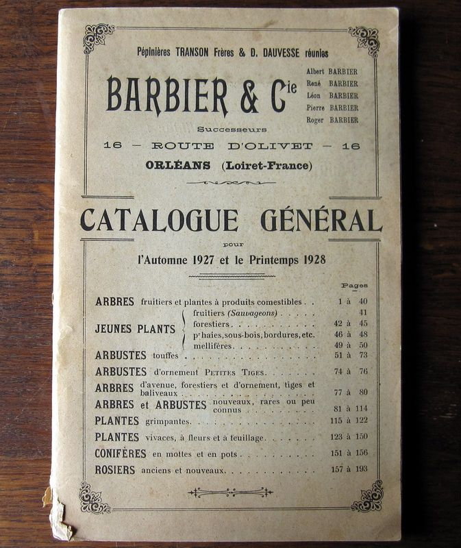 Catalogue BARBIER & Cie
