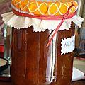 Cache pots confitures maison, ici abricots