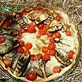 Tarte aux légumes grillés, tomates cerises et mozzarella