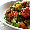 Poivrons grillés à l'oignon rouge et ail / salata mechouia