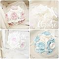 bouquet de mariée original pastel ivoire rose poudre bleu ciel blanc rose cereza mademoiselle r