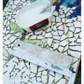 Table de salon recouvert de mosaique 2