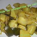 Poêlée de courgettes au curry