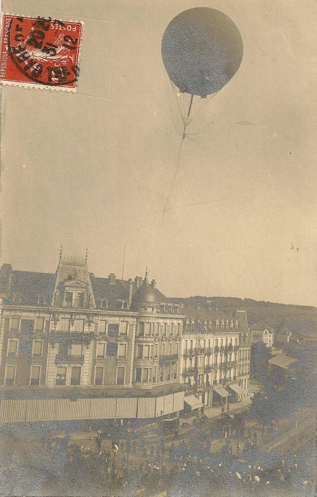 Un ballon captif sur Belfort où télégraphie rime avec sténographie
