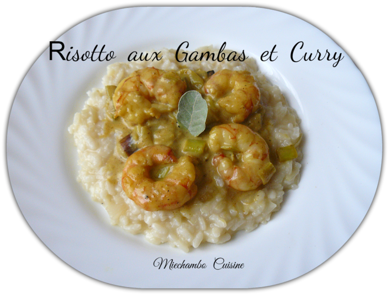 Risotto aux Gambas au Curry