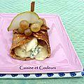Crêpe farcie aux poires et fromage bleu, pour les gastronomes allemands ......