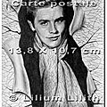 Carte postale. Portrait d'Alain <b>Delon</b>