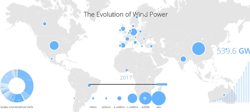 carte interactive wind power energie eolienne dans le monde