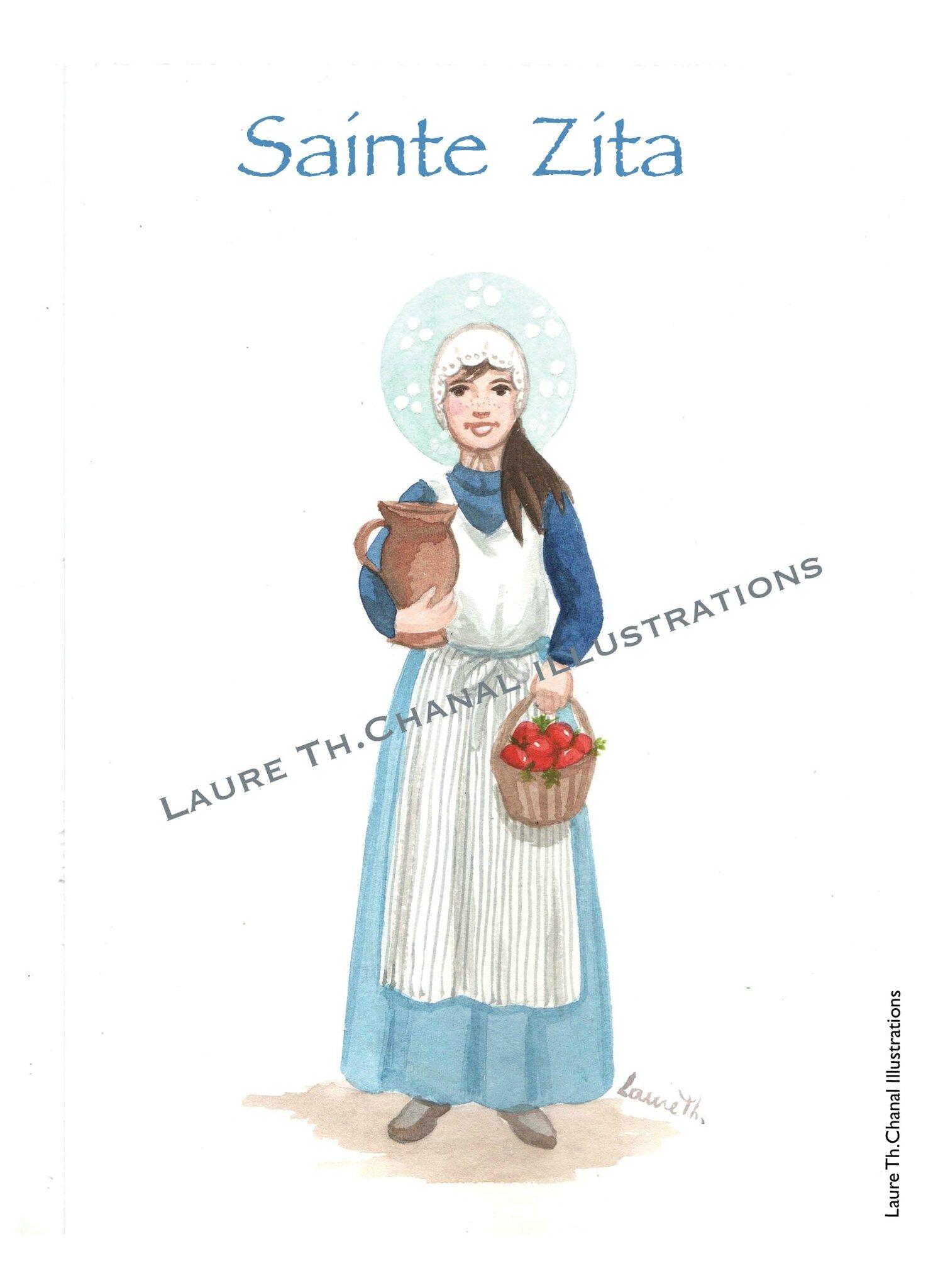 sainte Zita de Lucca, Vierge et Servante
