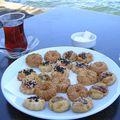 Délicieux biscuits préparés devant nous
