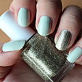 Review : Vernis Absolutely Shore d'<b>Essie</b> (+ Beyond Cozy d'<b>Essie</b> en accent nail)