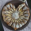 Coeur feuilleté à la pâte à tartiner