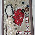 Échange de cartes textiles atelier d'emma