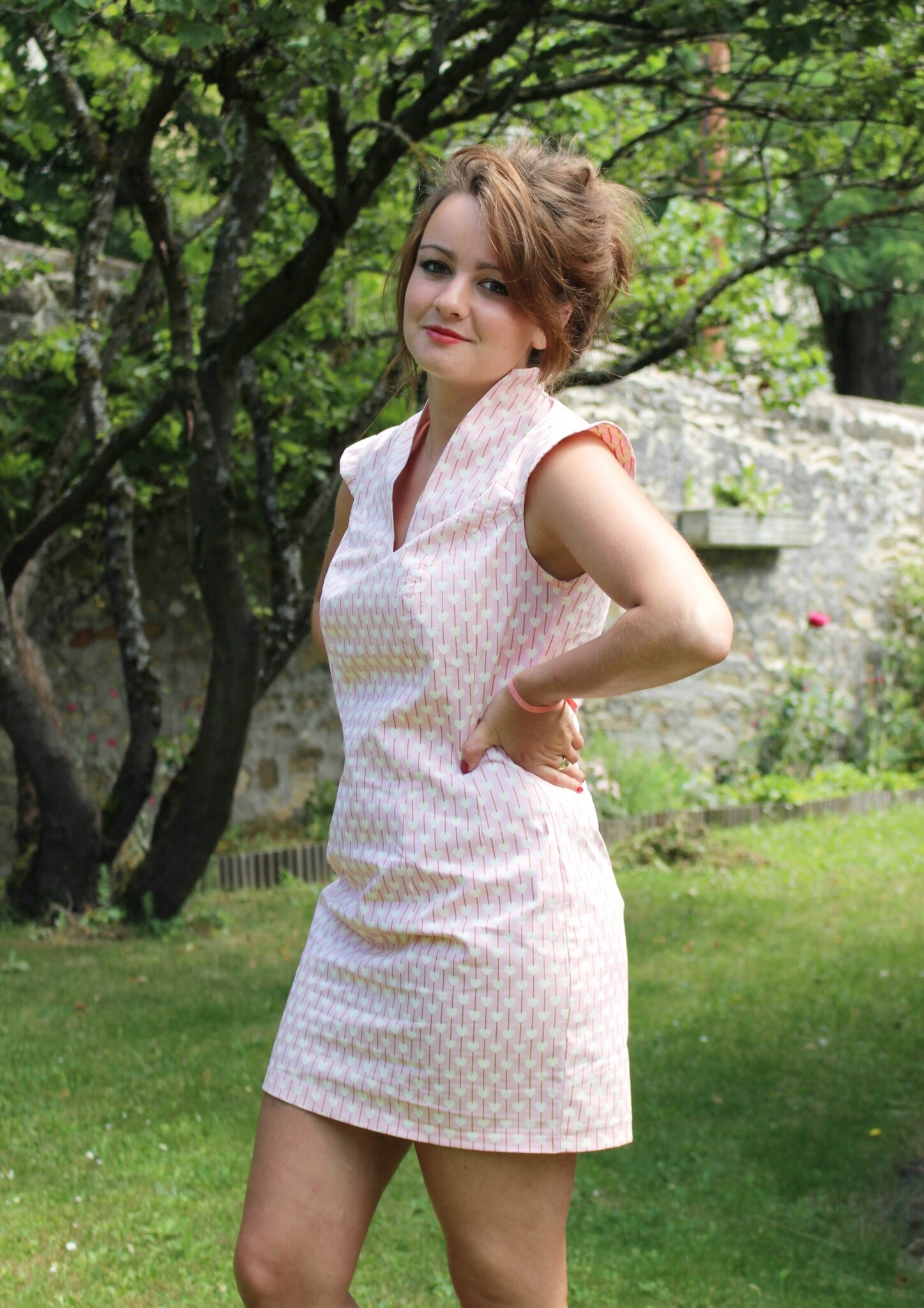 Petite robe cintrée d'été