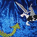 turbulette hiver chevalier knight and dragon winter sleeping bag