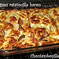 Lasagnes ratatouille bacon