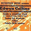 Edwyn collins - dimanche 5 novembre 1989 - town & country club (london)