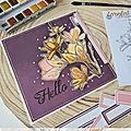 Une carte florale par Flo