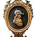 Alexandre le Grand casqué. Travail italien de la <b>première</b> <b>moitié</b> du <b>XVIIIe</b> <b>siècle</b>