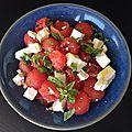 Salade d'été pastèque-féta