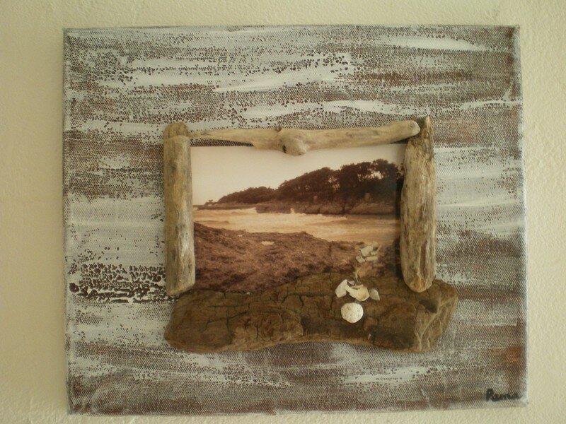 photo falaise en sépia, bois flotté et peinture - Photo de mes ...