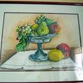 Coupe de fruits sur napperon