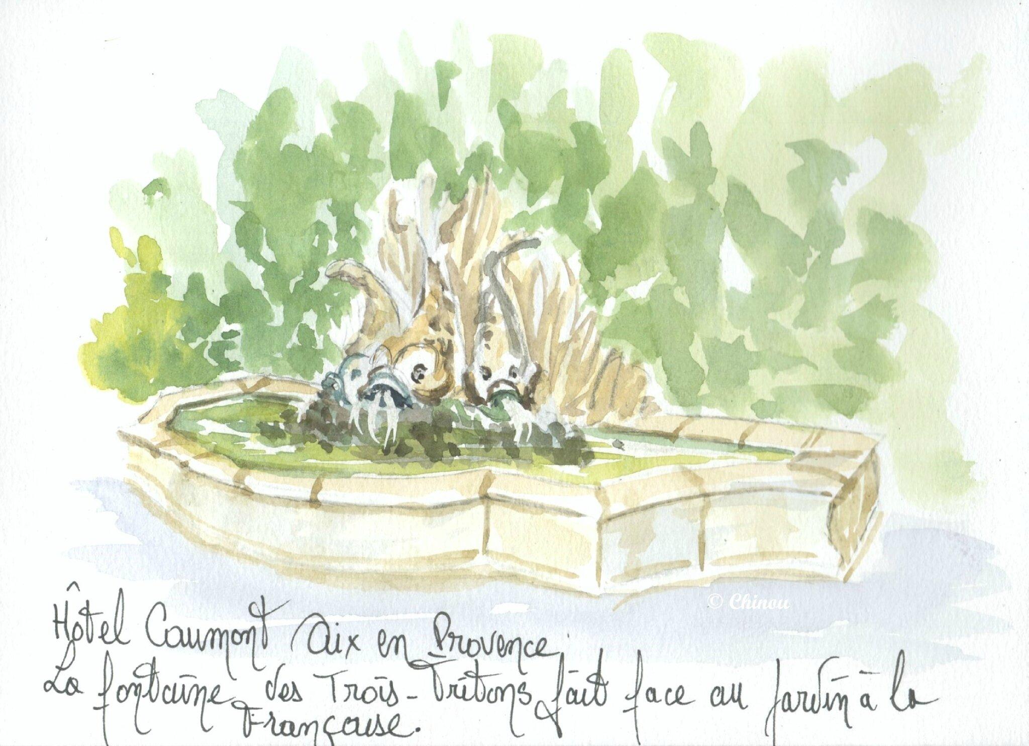 Fontaine des tritons hotel Caumont
