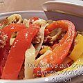 Tagliatelles aux poivrons, tomates séchées et thon
