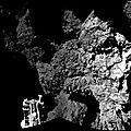 La premiere photo du sol de la comete 67p