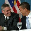 Le sénateur Obama et George clooney